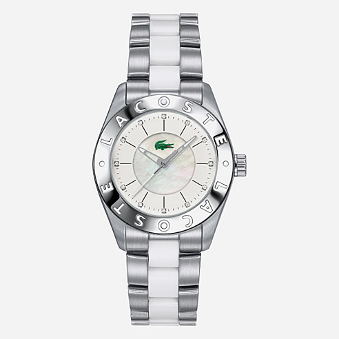 Biarritz crystals stainless steel bracelet watch
