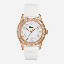Lacoste Advantage white rubber strap watch Women