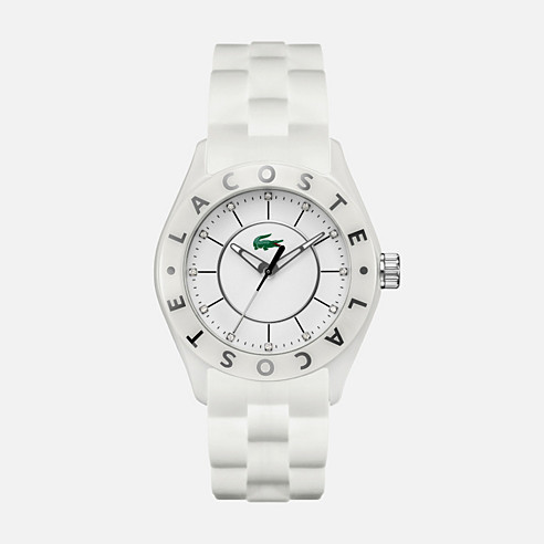 Biarritz white silicone strap watch
