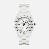 Lacoste Biarritz white silicone strap watch Women