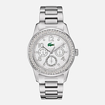 Lacoste Advantage multifunctions steel strap watch Women