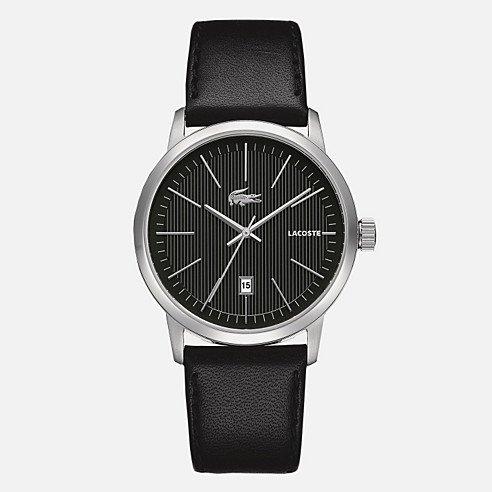 Chamonix round leather strap watch
