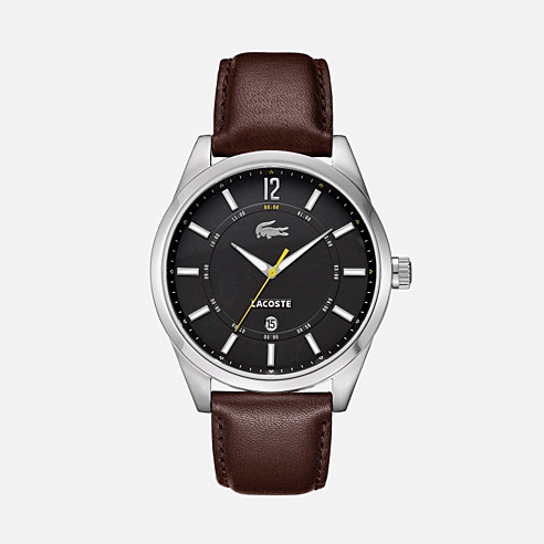 Montreal brown leather strap watch