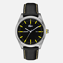 Lacoste Montreal leather strap watch Men