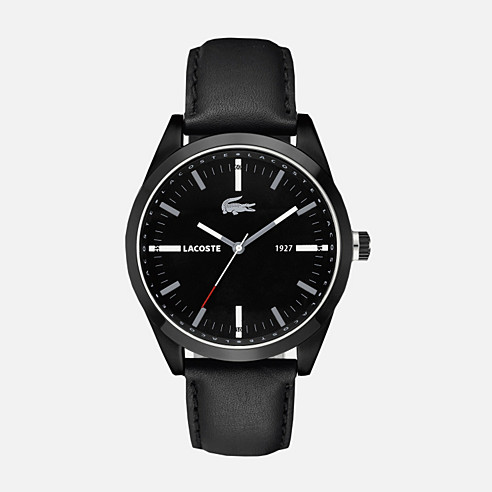 Montreal leather strap watch
