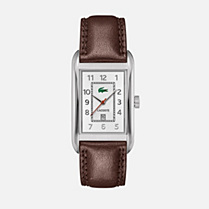 Lacoste Bristol leather strap watch Men