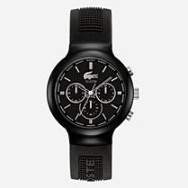 Lacoste Borneo chronograph silicone strap watch Men