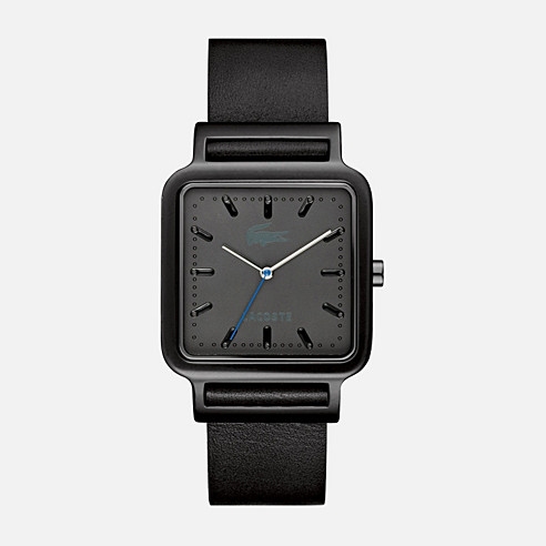 Osaka aluminum case and leather strap watch