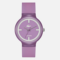 Lacoste Goa semi-transparent silicone strap watch Men