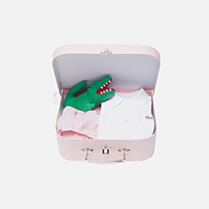 Lacoste Layette gift set rompers and cuddly toy gender.gir