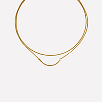 Lacoste Charm's gilt metal necklace Women