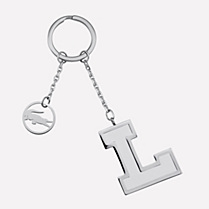 Lacoste White metal keyring Women