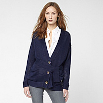Lacoste Linen cardigan with pockets Women