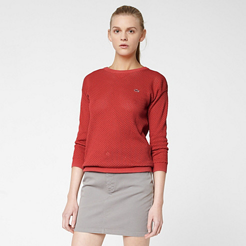 Lacoste Live sweater with pointelle knit