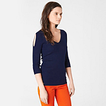 Lacoste Wool sweater with bare shoulders Women
