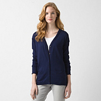 Lacoste Cotton and silk cardigan Women
