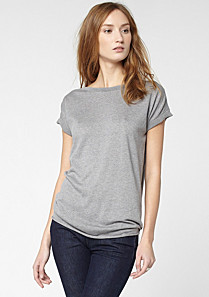 Lacoste Short-sleeved sweater in cotton and silk Women