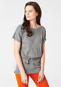 Lacoste Short-sleeved belted sweater Women