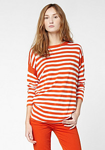 Lacoste Striped boat neck sweater Women