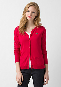Lacoste Cardigan with pockets Women