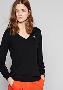 Lacoste Plain V-neck sweater Women
