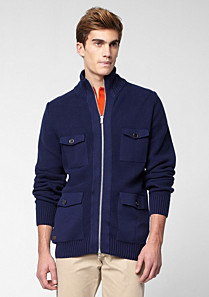 Lacoste Zipped gilet with high neck Men