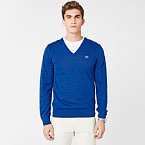 Lacoste Striped V-neck sweater Men