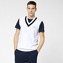 Lacoste Roland Garros sleeveless sweater in Pima cotton Men