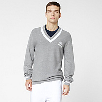 Lacoste Roland Garros sweater in Pima cotton. Men