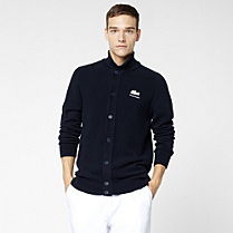 Lacoste Roland Garros buttoned gilet in Pima cotton Men