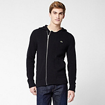 Lacoste Hooded zipped gilet Men