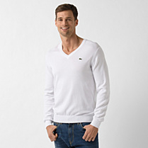 Lacoste Plain V-neck sweater Men