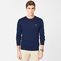 Lacoste Plain round neck sweater Men