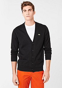 Lacoste Buttoned cardigan with pockets Men