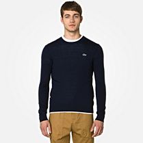 Lacoste Live Merino sweater with elbow patches Men