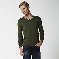Lacoste Live Supima cotton V-neck sweater Men