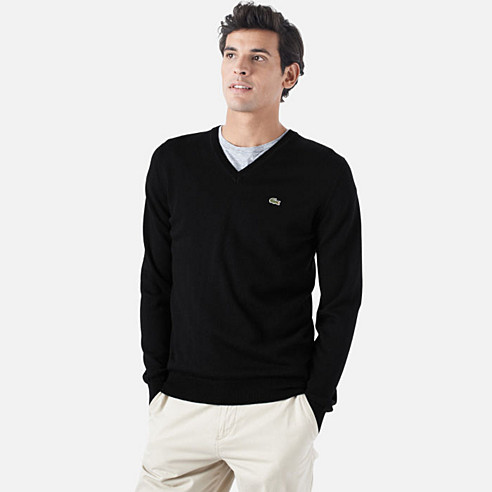 Lambswool V-neck Sweater