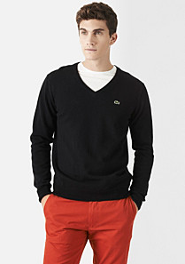 Lacoste Wool V-neck sweater Men