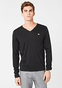 Lacoste V-neck sweater in cotton and cashmere Men
