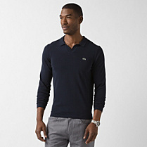 Lacoste Polo collar sweater in Pima cotton Men