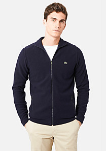 Lacoste Zipped high neck cardigan Men