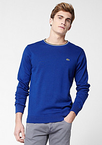 Lacoste Sweater with piping Men