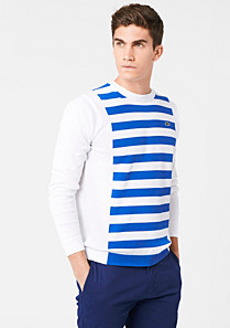 Lacoste Striped sweater with linen Men