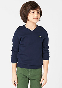 Lacoste Plain V-neck sweater Boy