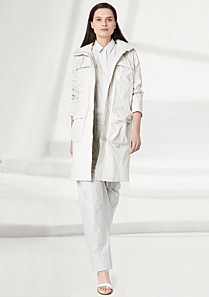 Lacoste Fashion Show parka with linen Women