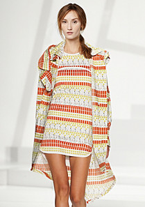 Lacoste Fashion Show patterned full jacket Women