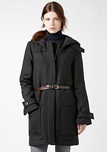 Lacoste Wool and cotton hooded jacket Women