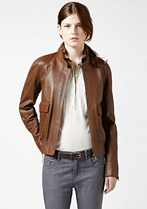 Lacoste Leather jacket Women