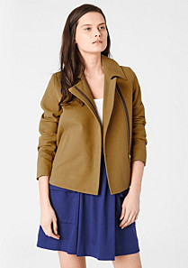 Lacoste Short zipped jacket with cashmere Women