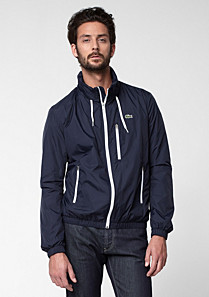 Lacoste Hooded showerproof bomber jacket Men